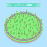 Bike Park top view, vector Stock Photos