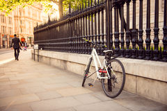 Bike parked in the city of London Stock Photography