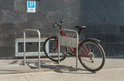 Bike parked Royalty Free Stock Images