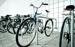 Bike parking area Stock Photography
