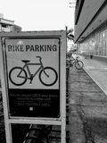 Bike parking area stock images