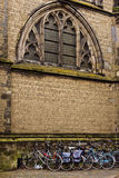 Bike Parking. Bicycle parking by St. Martin's Cathedral in Utrecht, Netherlands stock images