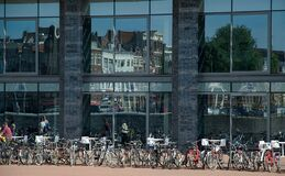 Free Bike Parking In Amsterdam Office Royalty Free Stock Photo - 174156705