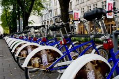 Bike parking in Oslo, Norway Royalty Free Stock Images