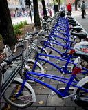 Bike parking in Oslo, Norway Stock Photo