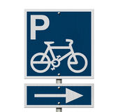 Bike Parking Sign Stock Image