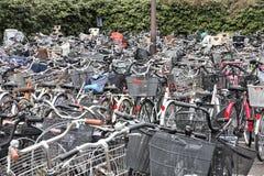 Bike parking in Tokyo Stock Image