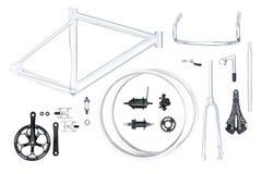Bike parts set Royalty Free Stock Photo
