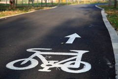 Bike path Royalty Free Stock Photography