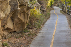 Bike path along Poudre River Royalty Free Stock Photography