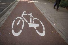 The bike path in Amsterdam Stock Photo