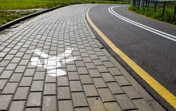 Bike Path in the city Royalty Free Stock Photo