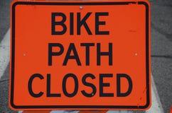 Bike Path Closed Royalty Free Stock Photo
