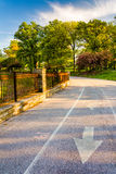 Bike path at Druid Hill Park in Baltimore, Maryland. Stock Photos