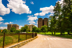 Bike path at Druid Hill Park in Baltimore, Maryland. Royalty Free Stock Image