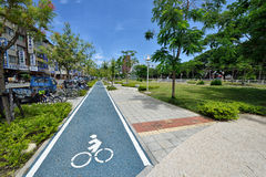 Bike Path in Kaohsiung Royalty Free Stock Images