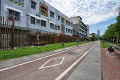 Bike Path in Kaohsiung Stock Image