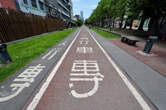 Bike Path in Kaohsiung Stock Photo