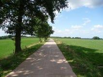 Bike path in Limburg Stock Photos