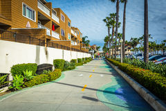 Bike path in Newport Beach  Stock Photo