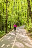 Bike path in the park Royalty Free Stock Images