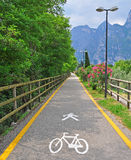 Bike path in the park Royalty Free Stock Photos