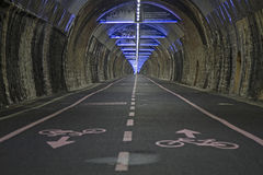 Bike path Pista ciclabile parco costiero Royalty Free Stock Photo