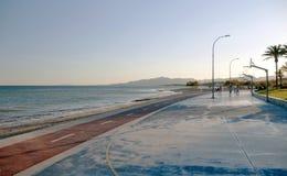Bike path on promenade Stock Photo