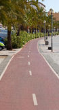 Bike path on the promenade of Palma de Mallorca Stock Photography