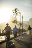Bike Path Sidewalk Ipanema Beach Rio de Janeiro Brazil Stock Photos
