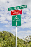 Bike Path Sign Stock Images