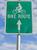 Bike Path Sign Stock Photo
