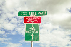 Bike Path Sign Stock Image