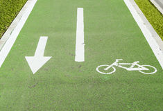 Bike path Royalty Free Stock Photo