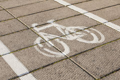 Bike path. Royalty Free Stock Image