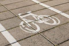 Bike path. Royalty Free Stock Image