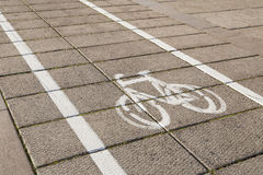 Bike path. Royalty Free Stock Photography
