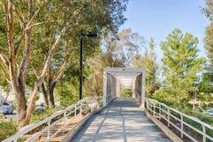 Bike Path To Bridge Royalty Free Stock Photos
