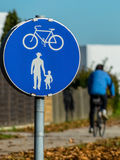 Bike path and walkway Stock Images