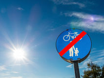 Bike path and walkway Royalty Free Stock Images