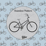 Bike pattern. Simple illustration of bicycle  for web and print. Bicycle pattern. Simple illustration of bike  pattern for web and print Royalty Free Stock Images