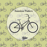 Bike pattern. Simple illustration of bicycle  for web and print. Seamless pattern bikes. Simple illustration of bicycle  pattern for web and print Stock Images