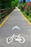 Bike and pedestrian path Royalty Free Stock Photo