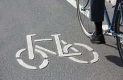 Bike_pictogram Imagem de Stock Royalty Free