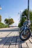 Bike on the pier Stock Photo
