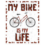 Bike poster. Old-fashioned bike poster / background / wallpaper with high detailed cartoon bicycle. Stock . Bike lifestyle Stock Images