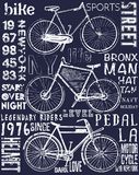 Bike poster tee graphic design. Fashion style Royalty Free Stock Photography