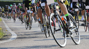 bike and professional cyclists during the cycling race on asphal Royalty Free Stock Photos