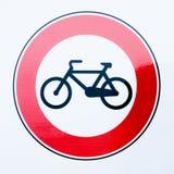 Bike prohibition sign Stock Photo
