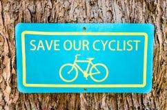 Bike public information sign Stock Images